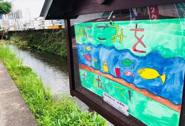 蛍橋電停付近の本宮川