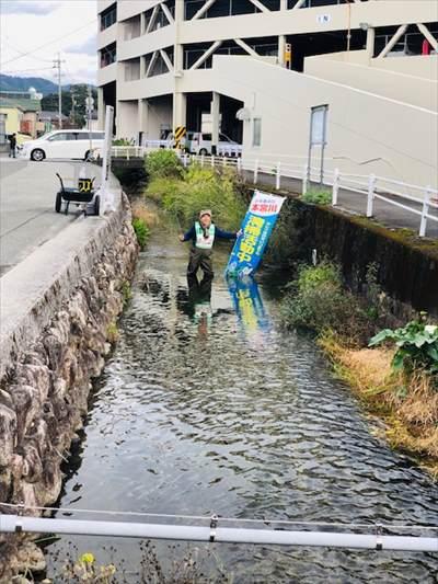 12月9日 本宮川 イオン裏清掃活動の様子